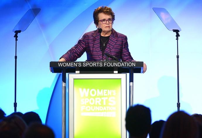 Billie Jean King ex-tenista discurso (Foto: AFP)