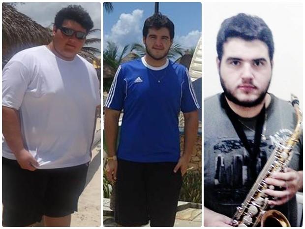 Jovem emagreceu 74 kg em um ano, e engordou 30 em três meses (Foto: Arquivo Pessoal/ Andrei Drummond)