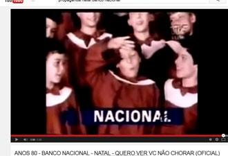 Propaganda Natal Banco Nacional (Foto: Reprodução/YouTube)