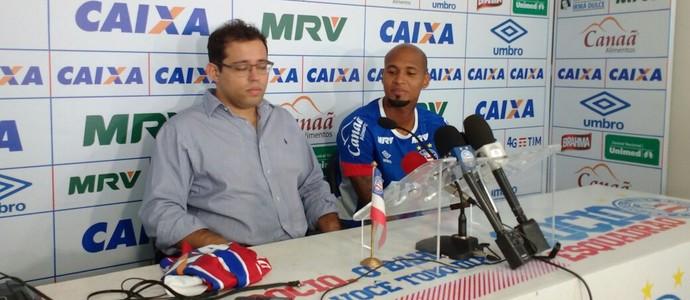 Wellington Silva; Bahia; Pedro Henriques (Foto: Rafael Santana)