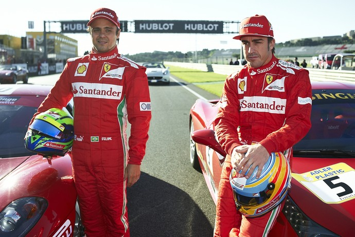 Fernando Alonso Felipe Massa Ferrari Fórmula 1 (Foto: Getty Images)