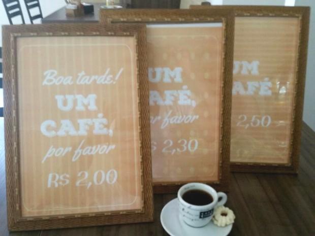 Cafeteria quer fazer com ações gentis voltem a ser hábitos entre a população (Foto: Arquivo Pessoal/ Adriana Duda)