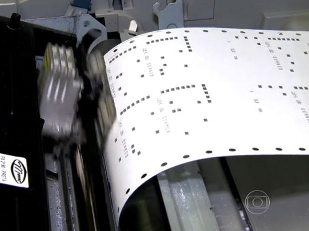 Máquina processa 14 horas possíveis combinações de apostador (Foto: Reprodução/TV Globo)