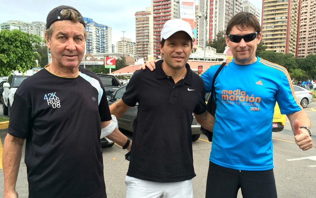 Daniel Gonzalez Roberto Gloriani Rubén Giampieri Meia Maratona do Rio de Janeiro Eu Atleta (Foto: Samantha Bonnel)