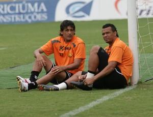 Kléber e Zé Carlos, Criciúma (Foto: Fernando Ribeiro, Divulgação / Criciúma EC)