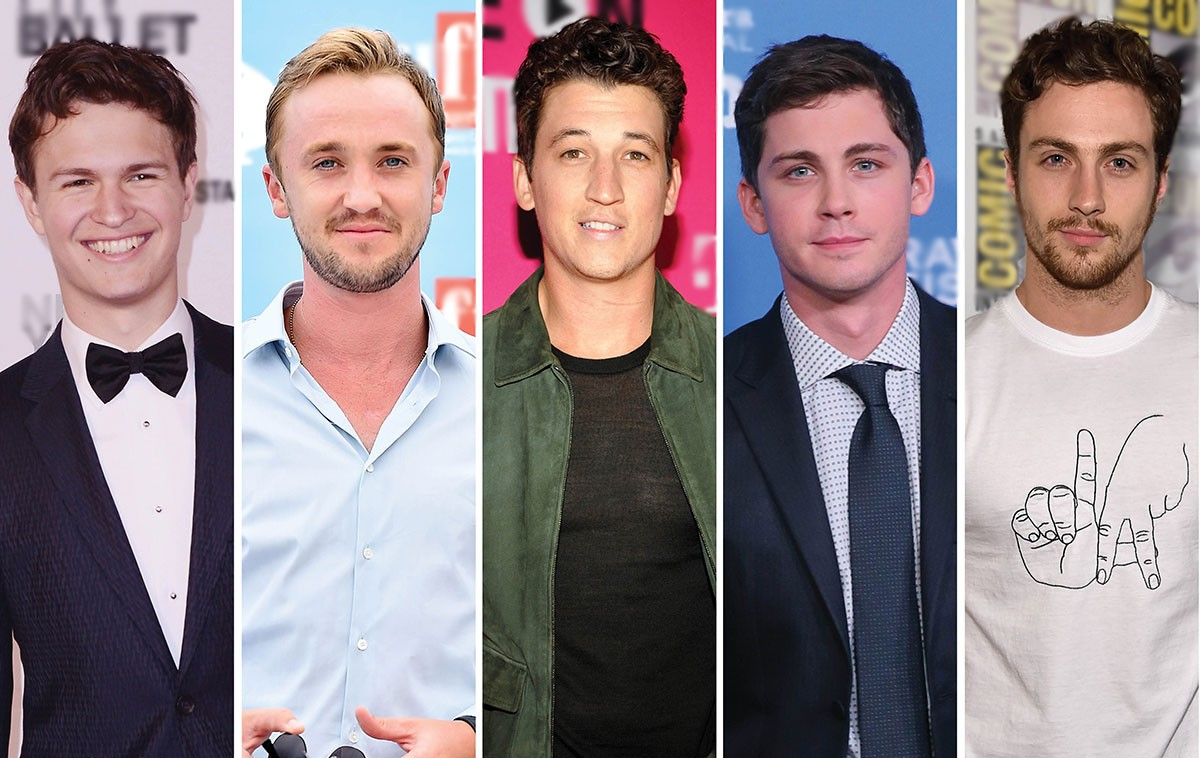 Ansel Elgort, Tom Felton, Miles Teller, Logan Lerman e Aaron Taylor-Johnson estão entre os candidatos a viver o jovem Han Solo, papel de Harrison Ford em 'Star Wars' (Foto: Getty Images)