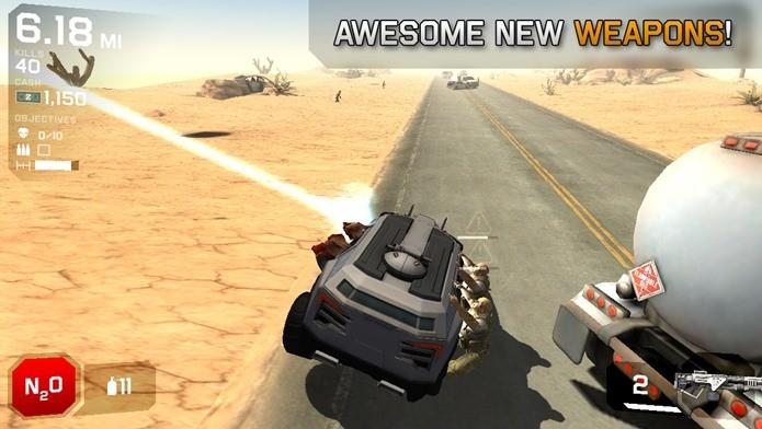 Tente não perder o controle do seu carro no meio do apocalipse zumbi (Foto: Divulgação)