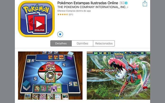 No iPad basta procurar por Pokémon TCG e fazer o download (Foto: Reprodução/Murilo Molina)