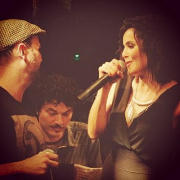 Tabatha e o músico Edu Tedeschi (Foto: Arquivo Pessoal)
