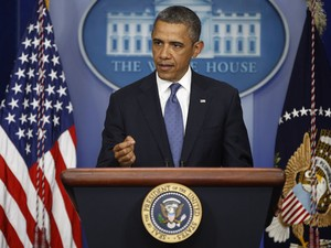 Barack Obama, em pronunciamento nesta sexta-feira na Casa Branca (Foto: Reuters)
