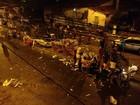 Motorista sobe canteiro e atropela 12 pessoas em Maracanaú, no Ceará