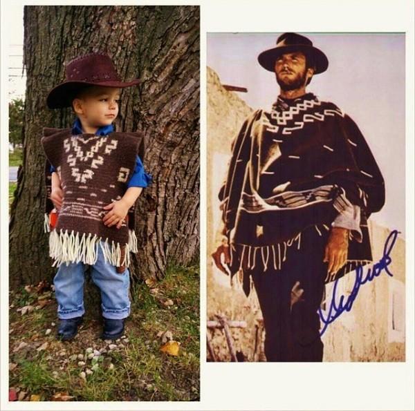 Jack com poncho inspirado no personagem de Clint Eastwood em 'Três Homens em Conflito' (Foto: Reprodução Crochetverse)