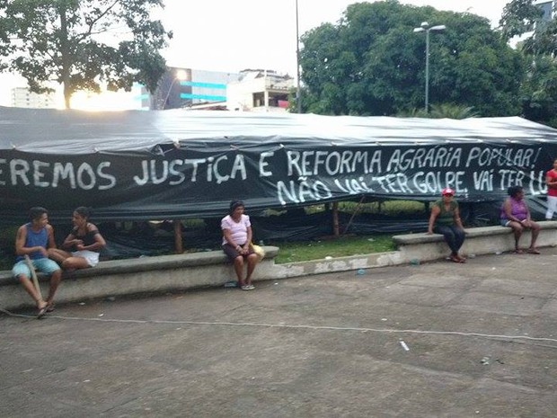 Ocupação do MST em São Brás (Foto: Pedro Cruz/ G1 PA)