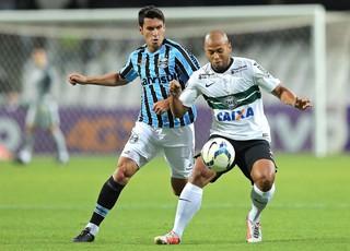 Riveros e Sergio Manoel, Coritiba x Grêmio (Foto: Getty Images)