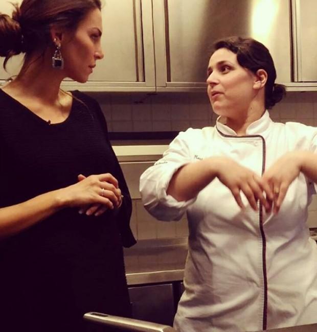 Mel Fronckowiak e a chef Marlene Vieira (Foto: Reprodução/Instagram)