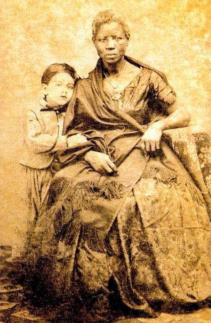 João Ferreira Villela Artur Gomes Leal e sua ama de leite, Mônica (Foto: Wikimedia Commons, Museu Afro-Brasil)