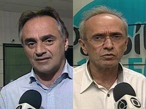 Luciano Cartaxo (PT) e Cícero Lucena (PSDB) disputam o segundo turno em João Pessoa (Foto: Montagem/G1)