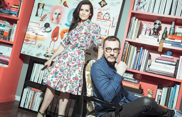 Os sócios da Tastemakers, Ana Zambon (de camisa e saia Reinaldo Lourenço) e Herbert Gris (Foto: Fred Othero e Fernando Schlaepfer)