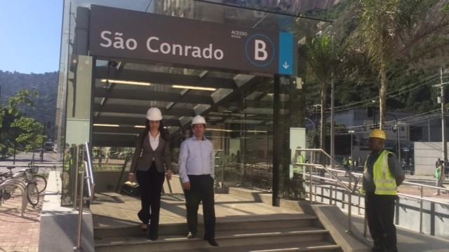 Secretário Rodrigo Vieira entrega estação São Conrado (Foto: Matheus Rodrigues/G1)