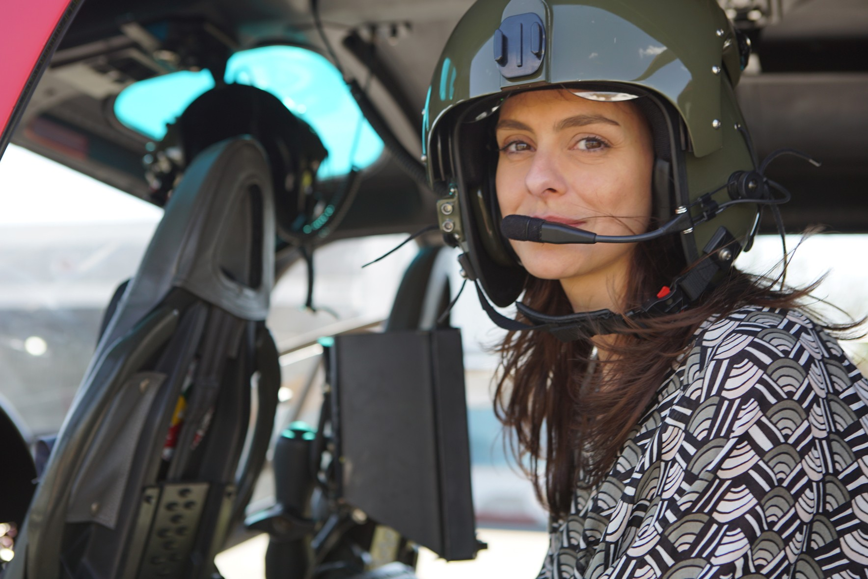 Vivian Sacarrão no Campo de Marte (Foto: Divulgação)