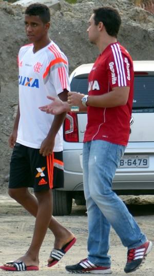 Treino Flamengo - Gabriel  (Foto: Carlos Mota)