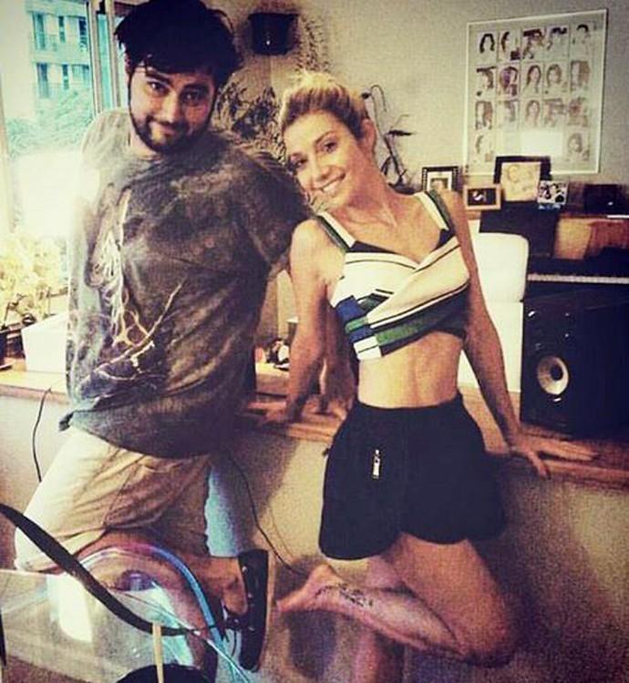 """Luiza e DJ Gorky criaram grande amizade durante gravação do álbum """"LP"""" (Foto: Arquivo Pessoal)"""
