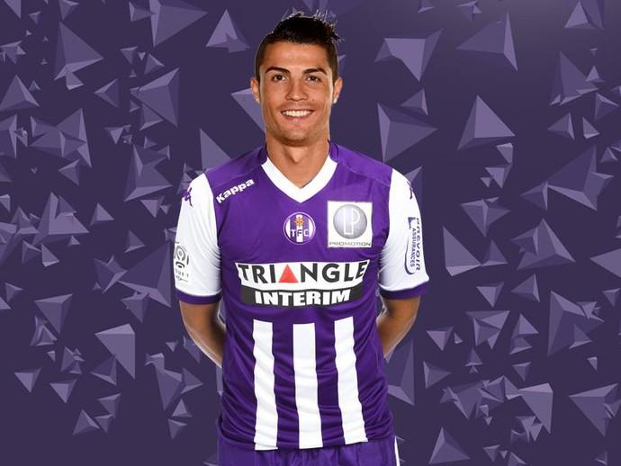 Cristiano Ronaldo no Toulouse (Foto: Facebook do Toulouse)