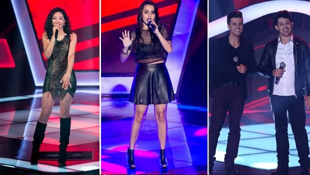 Entre as atrações: Adna Souza, Allice Tirolla e a dupla Vitor e Vanuti, participantes do The Voice Brasil  (Foto: Divulgação/ The Voice)