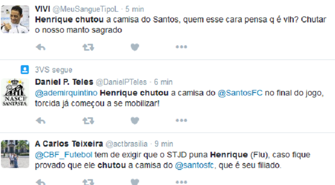 twitter henrique santos (Foto: Reprodução/Twitter)
