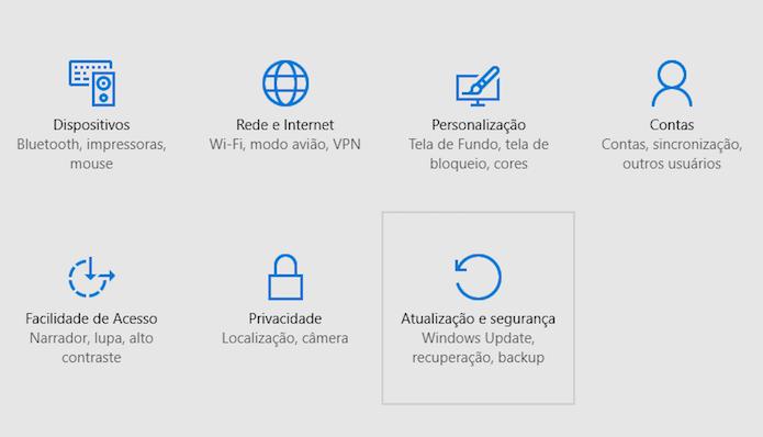 Acesse as configurações de atualizações (Foto: Reprodução/Helito Bijora)