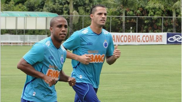 Borges, Anselmo Ramon, treino, Cruzeiro, Toca da Raposa II (Foto: Tarcísio Badaró / Globoesporte.com)