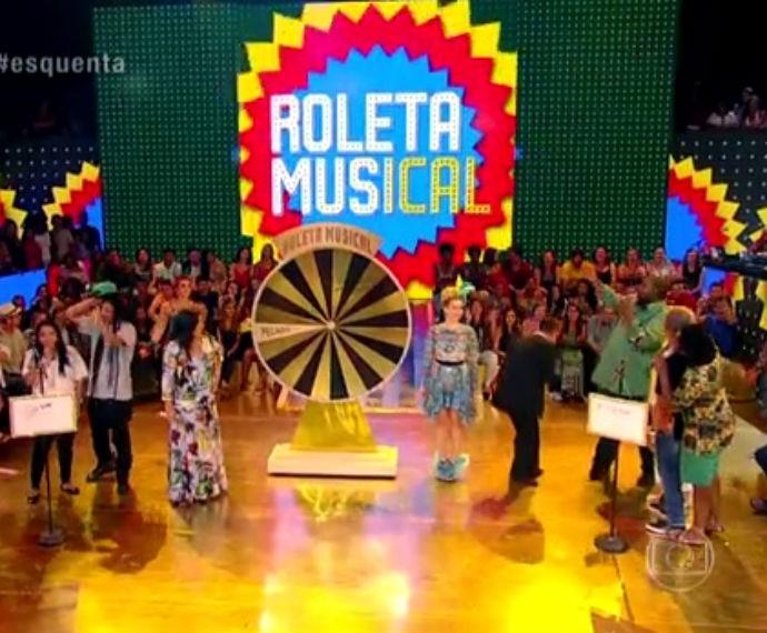 Roleta Musical especial só com músicas de Djavan  (Foto: Reprodução/ Rede Globo)