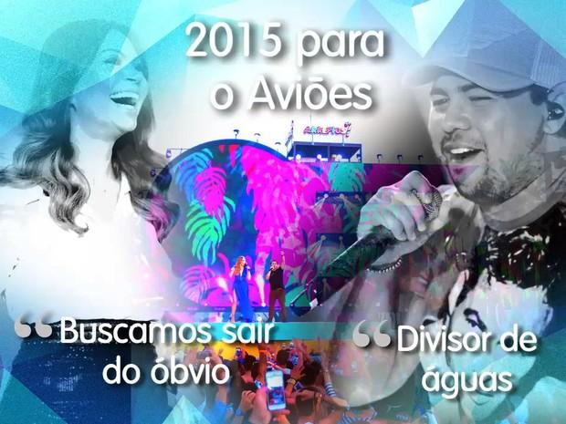 Solange Almeida e Xand comentam o ano de 2015 para o Aviões (Foto: Arte / Tiago Melo)