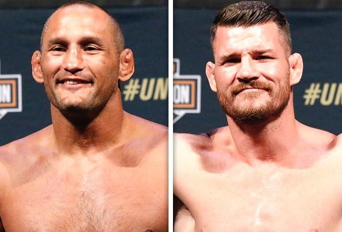 Montagem Dan Henderson x Michael Bisping UFC (Foto: Editoria de Arte)