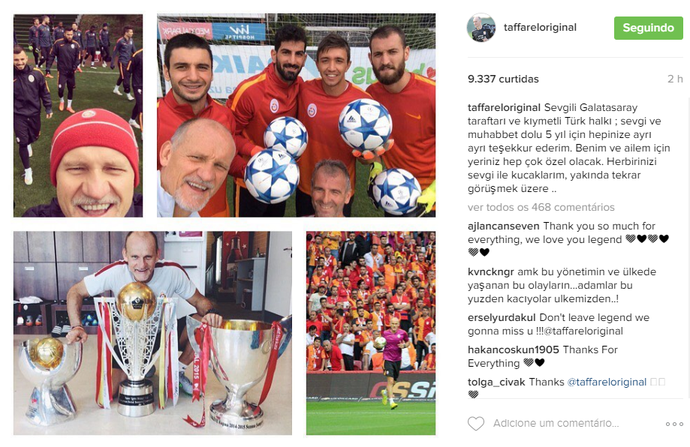 Taffarel Galatasaray (Foto: Reprodução / Instagram)