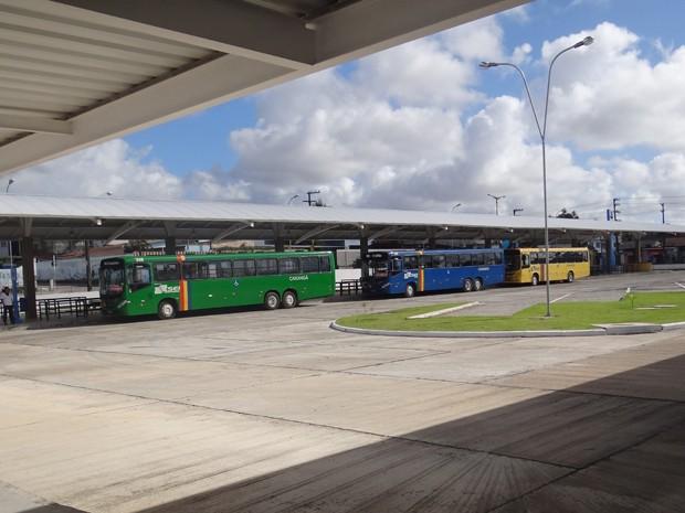 Terminal Integrado Xambá conta com 16 plataformas de embarque. (Foto: Katherine Coutinho / G1)