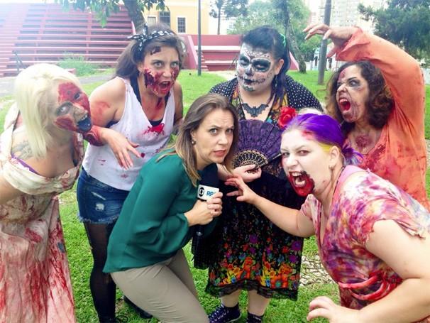 Painel RPC Zombie Walk (Foto: Reprodução/ RPC)
