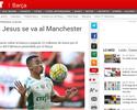 Jornal coloca Gabriel Jesus no City, mas Palmeiras não recebeu proposta