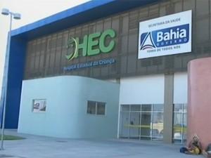 Hospital EStadual da CRiança HEC Bahia (Foto: Reprodução/TV Subaé)