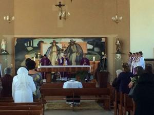 Padre será velado na igreja da Penha em Barbacena (Foto: Carlos Eduardo Alvim/G1)