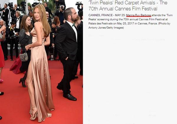 Marina Ruy Barbosa é confundida com ruiva misteriosa em Cannes (Foto: Reprodução / Getty Images)