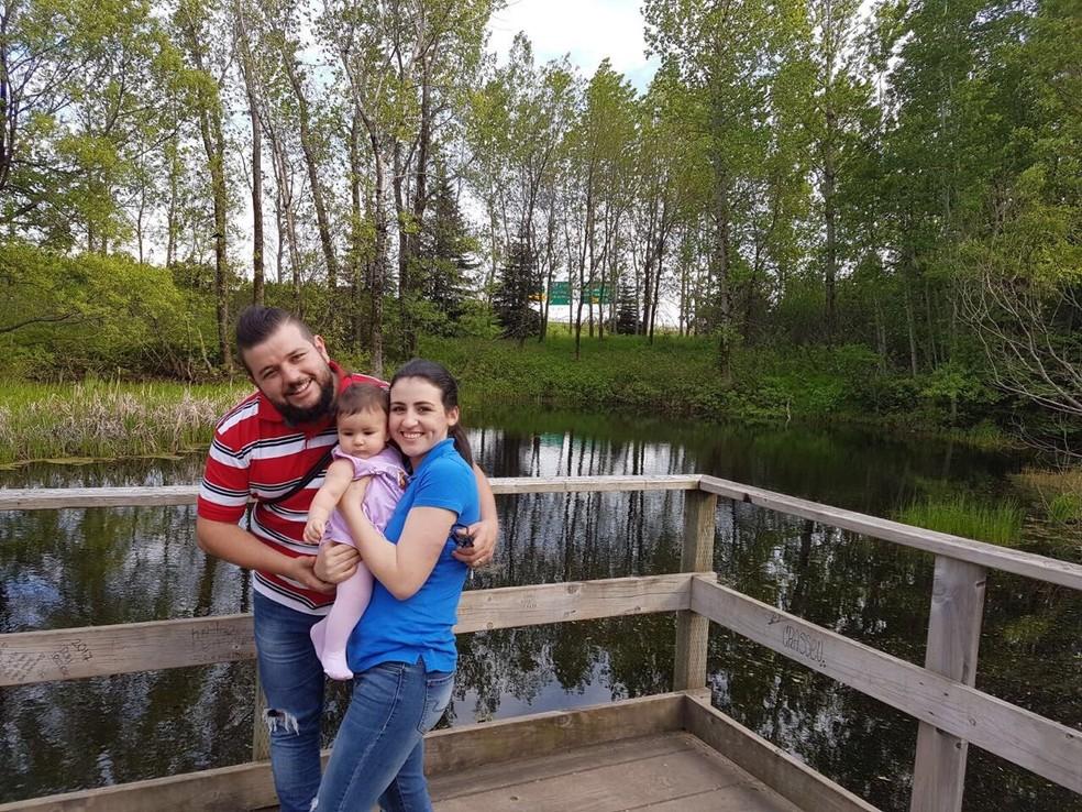 Felipe Cruz e Eliane Lima em Québec (Foto: Arquivo pessoal)