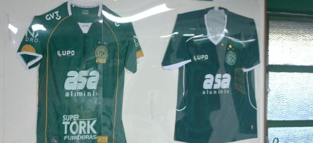 Exposição de camisas do memorial do Guarani (Foto: Murilo Borges/Globoesporte.com)