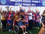 Invictas, meninas do Vila Nova-ES levam o tri do Capixaba de futebol 7