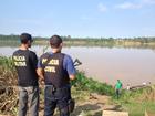 Policiais brasileiros e bolivianos tentam reaver armas roubadas, em RO