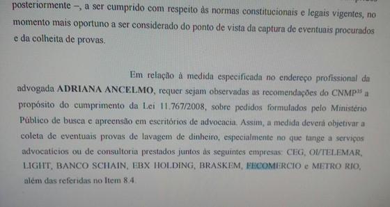 Ministério Público suspeita que contratos de escritório da mulher de Cabral serviram para lavar dinheiro (Foto: Reprodução)