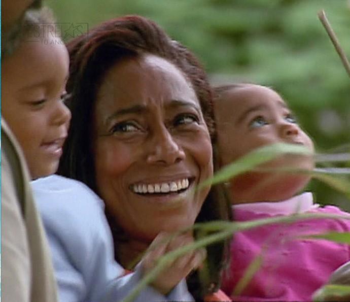 Glória Maria e suas filhotas (Foto: TV Globo)