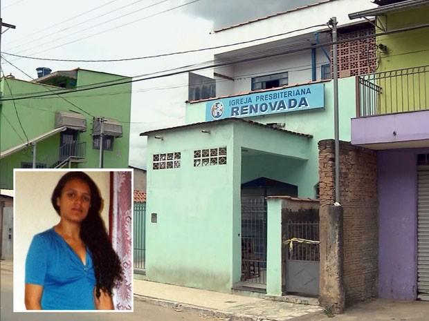 Crime aconteceu ao lado de igreja em Itajubá (Foto: Reprodução EPTV / Edson de Oliveira)