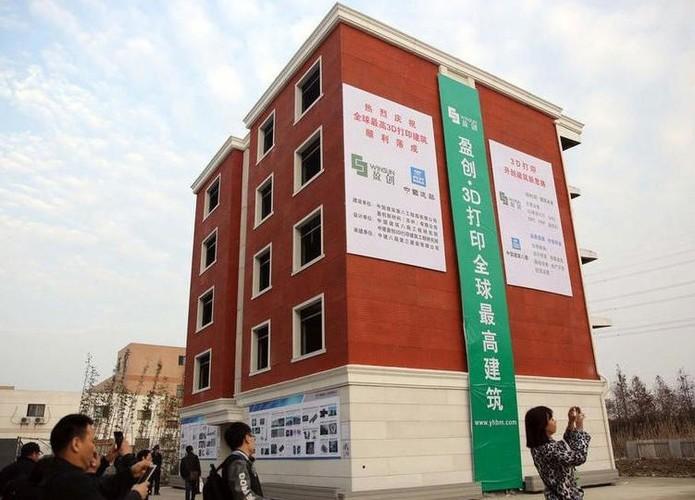 Empresa chinesa WinSun constrói primeiro edifício do mundo com uma impressora 3D (Foto: Reprodução/Cnet)