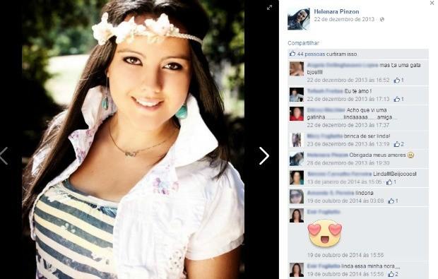 Jovem de 22 anos foi morta a facadas pela companheira em Santa Maria (RS) (Foto: Reprodução/Facebook)